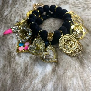 2 stack designer charm bracelet